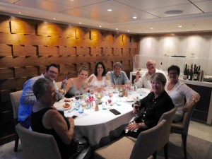 Dinner is delicious and joyful aboard the Egil.