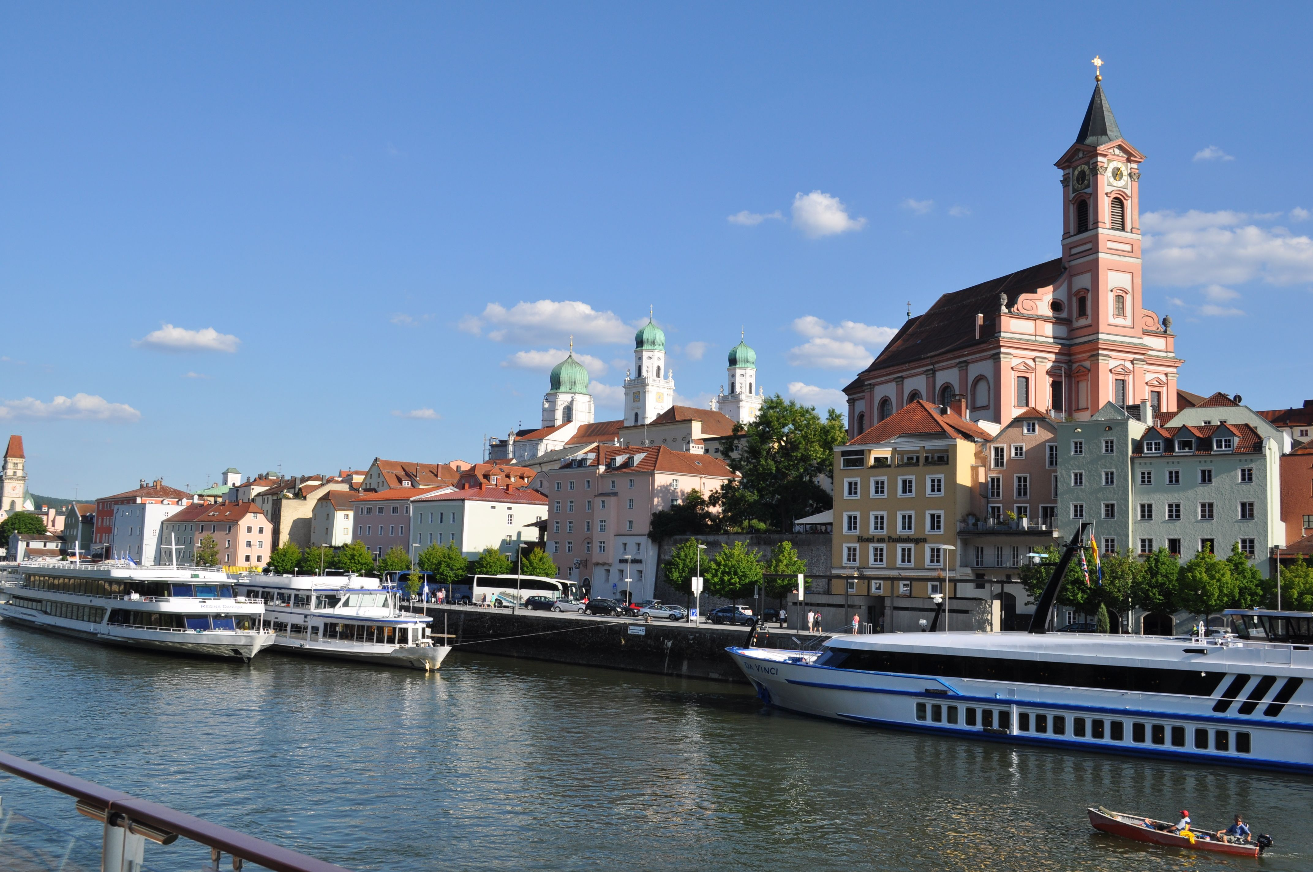 Picturesque Passau receives the largest chunks of tourists from river cruises.